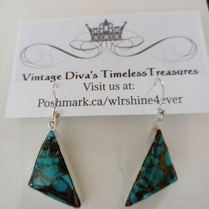 Copper Turquoise Gemstone Earrings
